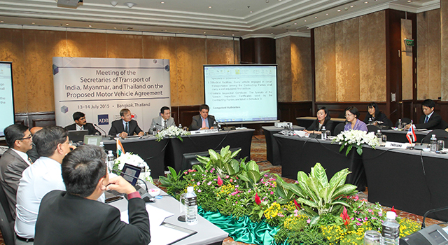 Meeting between India, Myanmar, and Thailand on the Motor Vehicle Agreement